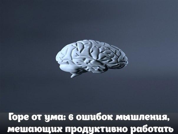 Горе от ума: 6 ошибок мышления, мешающих продуктивно работатьМенталь