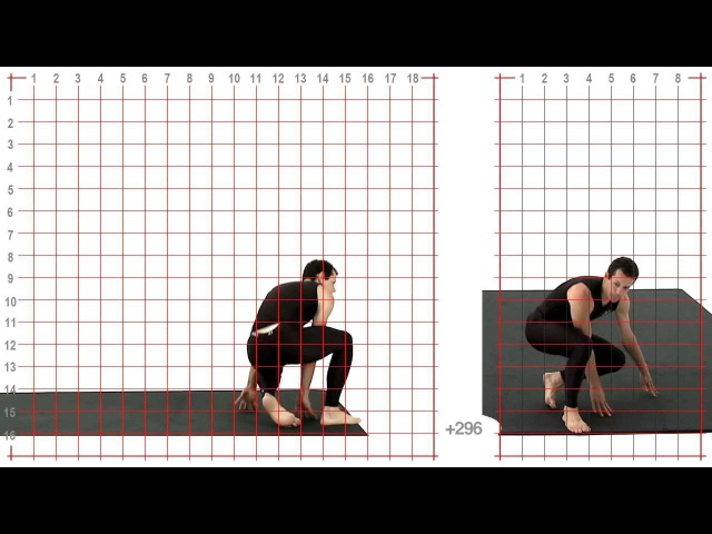 Dive Roll: Athletic Male: Grid Overlay - Animation Reference