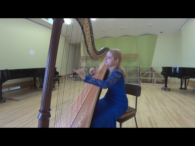 Franz Poenitz - Nordische Ballade - Russian harpist Anastasia Konopleva