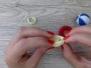 Пляжный набор: купальник крючком, круг и мяч для куколички от Katkarmela
