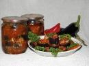 Баклажаны чесночные в томате - заготовки на зиму.