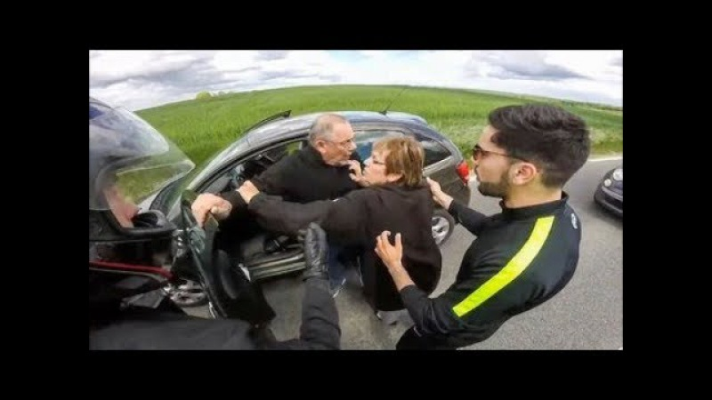 Stupid, Crazy and Angry People Vs Bikers 2017 | Road rage compilation 10