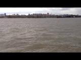 Река Обь Новосибирск - сильный ветер, штормит.