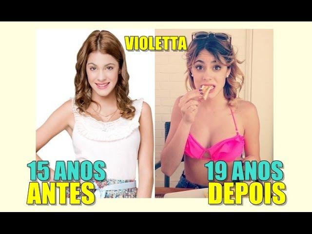 Violetta | Antes e Depois | Before and after 2016 | COM IDADE !