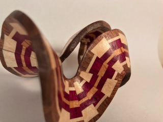 Woodturning a Segmented Christmas Ornament 3
