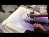 Мастер-класс по аэрографии от художника Edgar Invoker в Metropolis Gallery