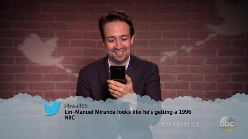 Оскар-2017: Лин-Мануэль в выпуске «Знаменитости читают грубые твиты» от Джимми Киммела | 26.02.17