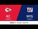 NFL 2017 / W11 / Kansas City Chiefs - New York Giants / CG / EN