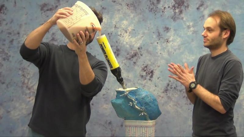 процесс создания силиконовой маски.Все просто и доступно!!