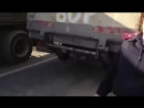 Водителя грузовика остановили ДПС за надпись на машине