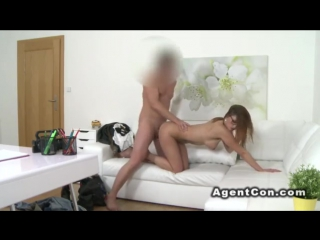 Busty_redhead_bangs_fake_agent_on_couch(fucking,hardcore,european,blowjob,amateur,busty,lingerie,pov,office,banging,reality,cast