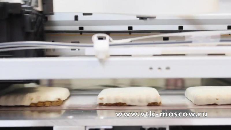 Пищевой плоттер в ВТК. Печать на пряниках, макарон и торте