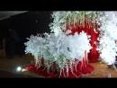 Красная свадьба с белыми гинками и глициниями оформление свадьбы Владивосток