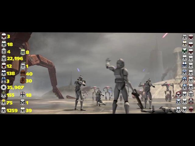 Клоны погибшие в мультсериале Clone Wars, в II и III эпизодах