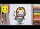Как нарисовать Русалочку - урок рисования для детей от 4 лет, рисуем дома поэтапн ...