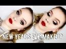 New Years Eve Makeup Tutorial | Glitter Cut Crease Bold Lip