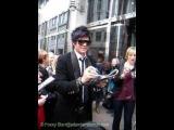 Adam Lambert at Canary Wharf in London