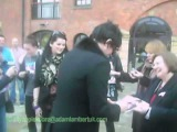 Adam Lambert meets his fans in Manchester, UK
