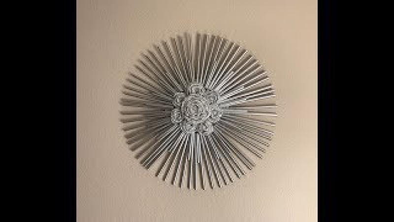 Drinking Straw and Foil Decorative Wall Art - Video Clip 2