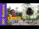 Kodak PIXPRO Orbit360 4KVR360 sample 4K 360 video with Guru 360 gimbal