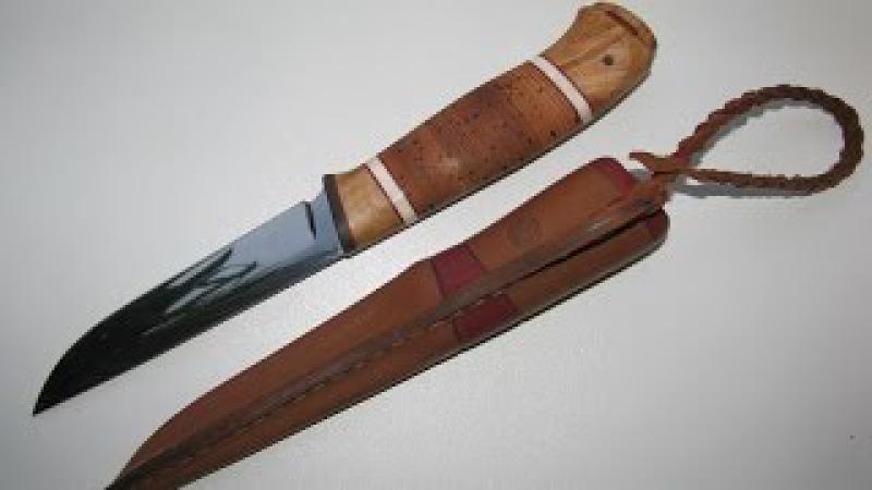 Как самостоятельно сделать оригинальный подарочный, но очень острый нож с нуля ...