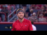 Jack Sock behind-the-back trick shot  Coupe Rogers Montreal 2017 Day 2