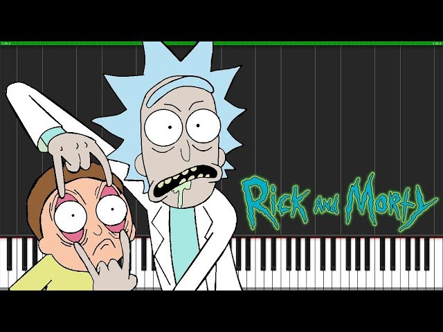 Rick and Evil Morty (Theme Song Evil Morty Theme) [Piano Tutorial] (Synthesia) Piano Man