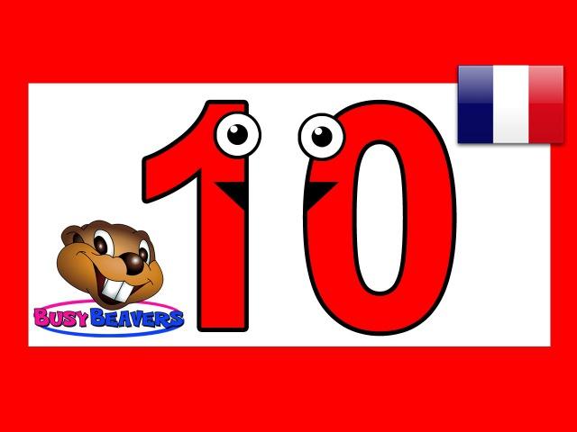 Давайте считать до 10 (Французский). Французский учите считать цифры. Детские стишки для малышей