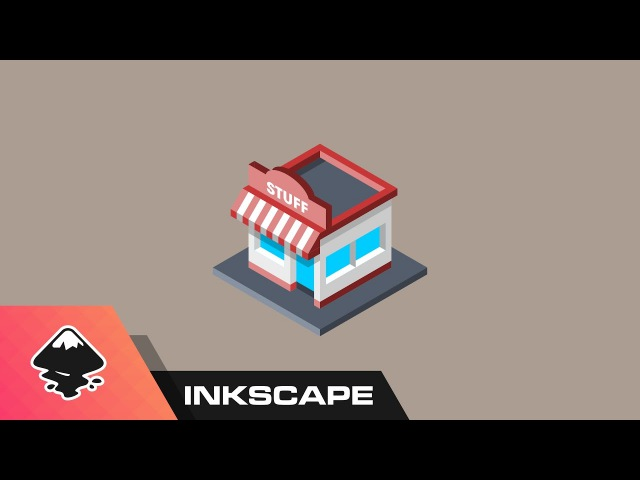 Inkscape Tutorial: Isometric Shop Icon