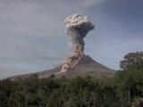 Raw Indonesia's Sinabung Volcano Spews Hot Ash