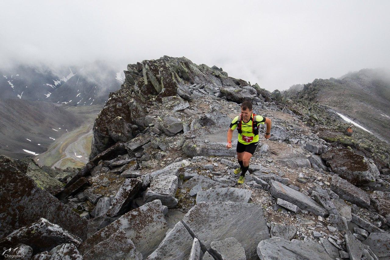 Алексей Андрейкин приближается к верхней точке дистанции