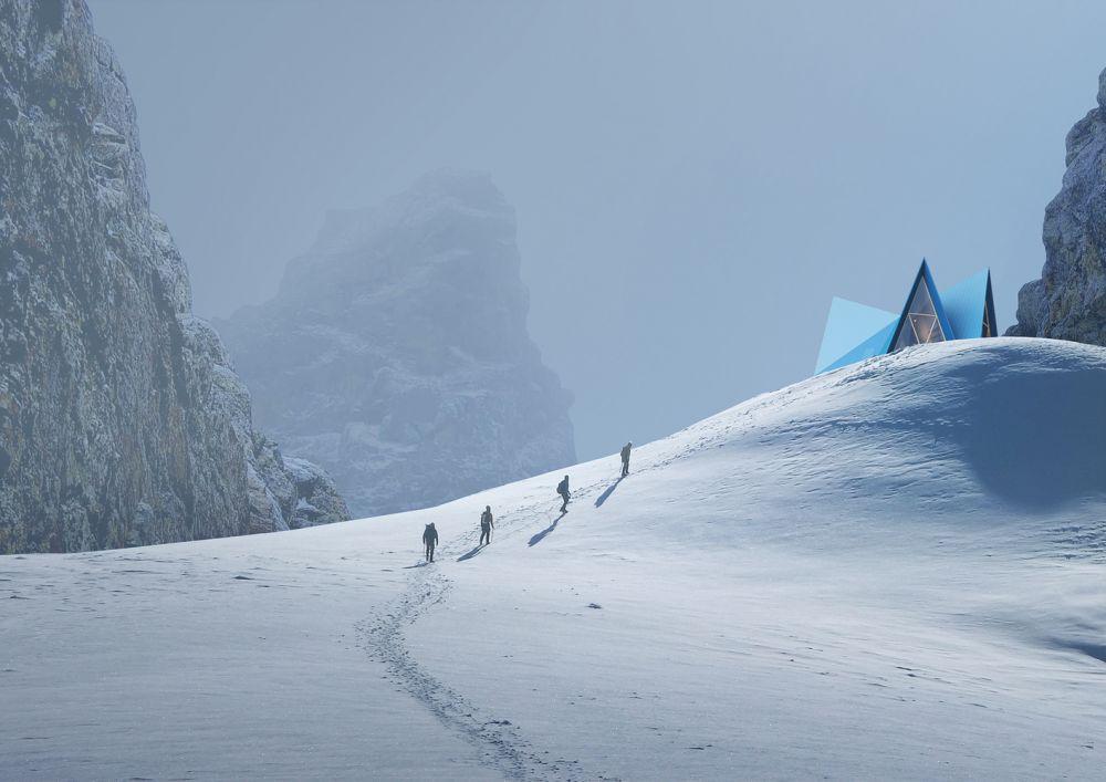 Палатка на склоне: модульные дома для сурового климата.