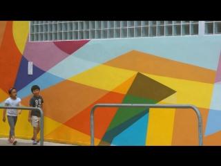 Pasha Wais / mural in Hong Kong