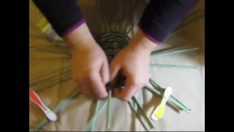 ▬► Плетение из газет квадратного дна -Часть1. _ Bottom of the basket weaving