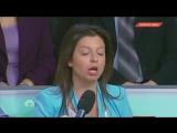 Маргарита Симоньян - Приведите мне один пример лжи на RT, один пример конкретный! Вы лживая женщина!