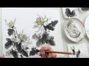 Он-лайн обучение суми-э Хризантема onlinemie-art/Hrizantema