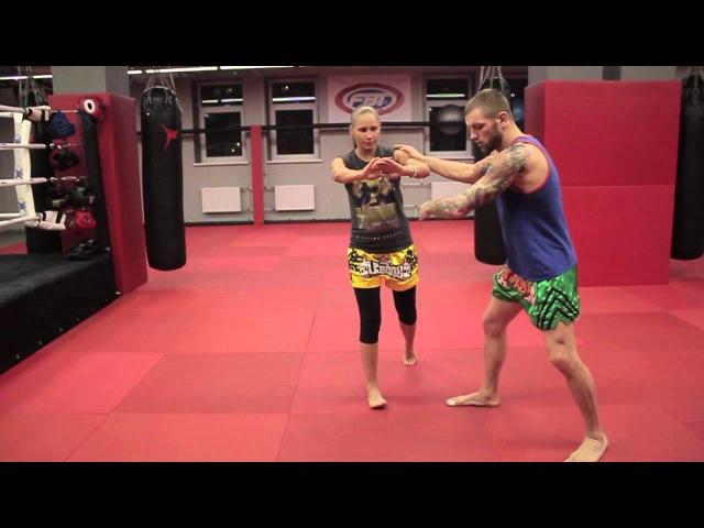Сайд степ в боксе и тайском боксе защита и уход с линии атаки от Андрея Басынина
