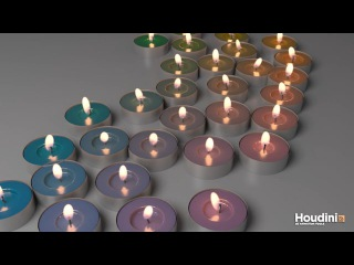 HOUDINI 튜토리얼 - CANDLES' FLAME EFFECTS