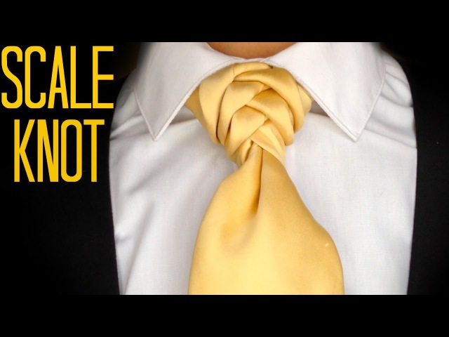 The Scale Knot How to tie a tie