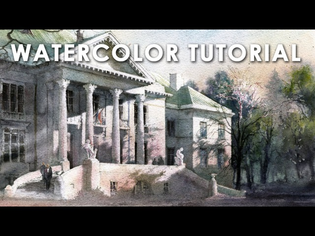 How to paint watercolor | Jak malować akwarelą - Step by step tutorial 2 [PL/ENG sub]