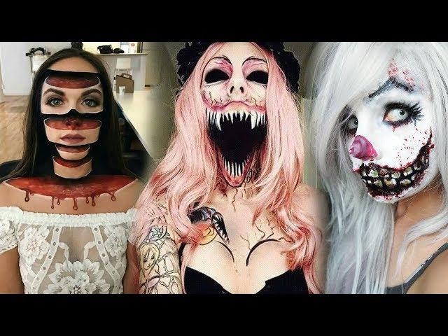Top 15 Easy Halloween Makeup Tutorials Compilation 2017
