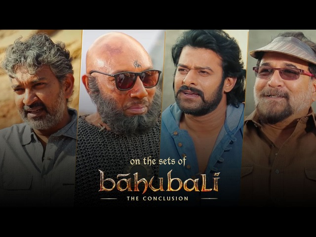 Baahubali 2 | On The Sets | SS Rajamouli, Prabhas, Sathyaraj, Sabu Cyril