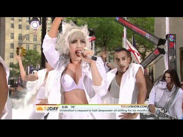 Lady Gaga Bad Romance - The NBC Today Show 7.9.10 HD