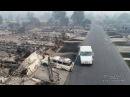 U.S.P.S Postman Delivers Mail Santa Rosa Fires Drone Video Douglas Thron October 10, 2017 California