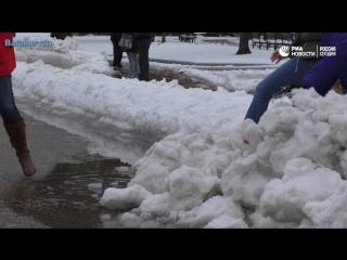 Последствия стихии в разных городах США