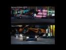 Форсаж 3-6 сиквел Смерть Хана погоня по Токио (два сцен из 3 и 6 части)