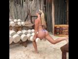 Lauren Drain: болгарские выпады. Tulum Jungle Gym, Мексика