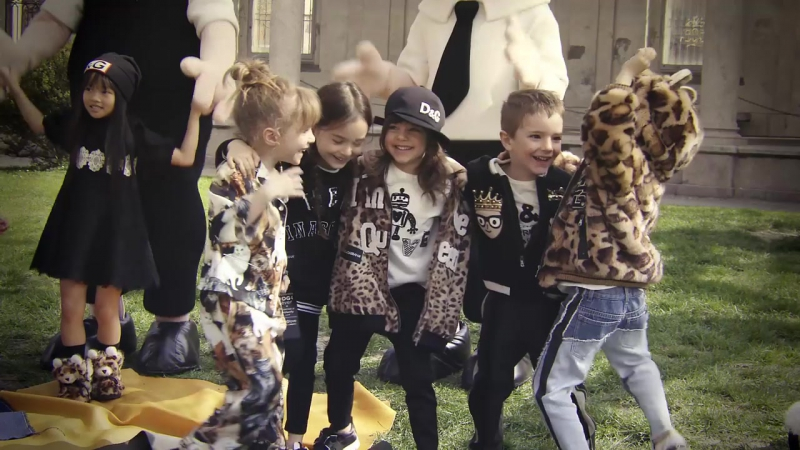 DolceGabbana FW18 Childrens Advertising Campaign
