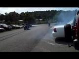 Rons V8 Chopper massive blue smoke burn out