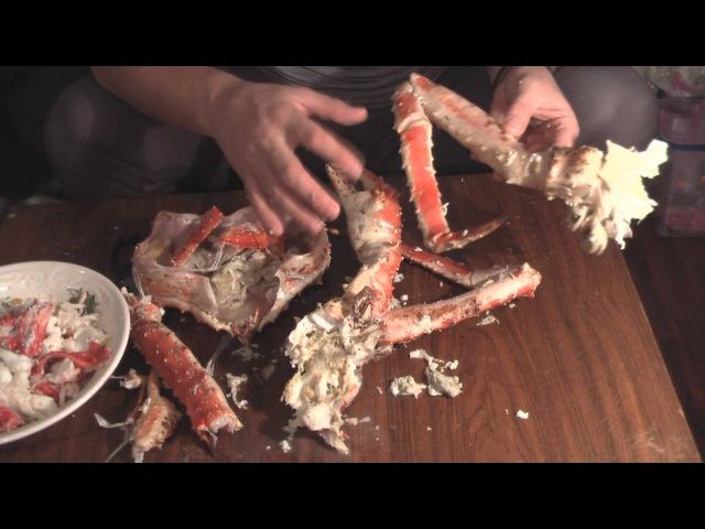 Как чистить камчатского краба / crab recipes